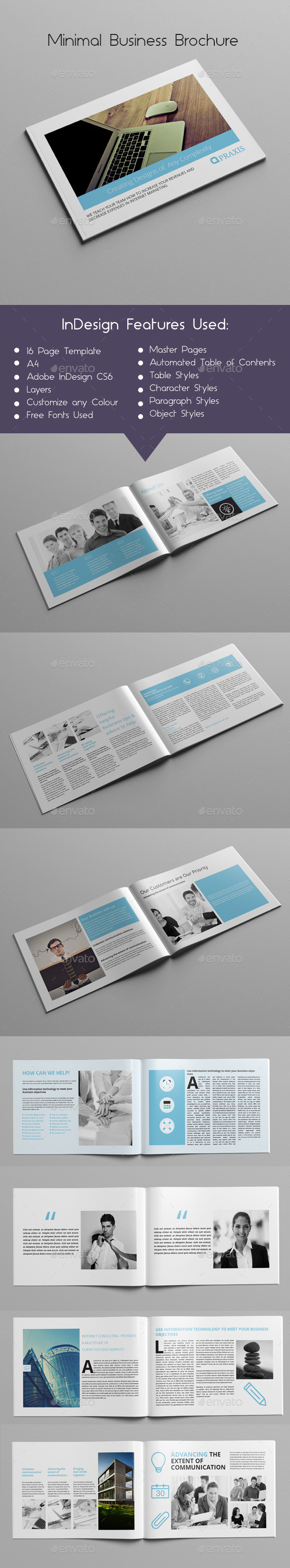 GraphicRiver Minimal Business Brochure 10432572
