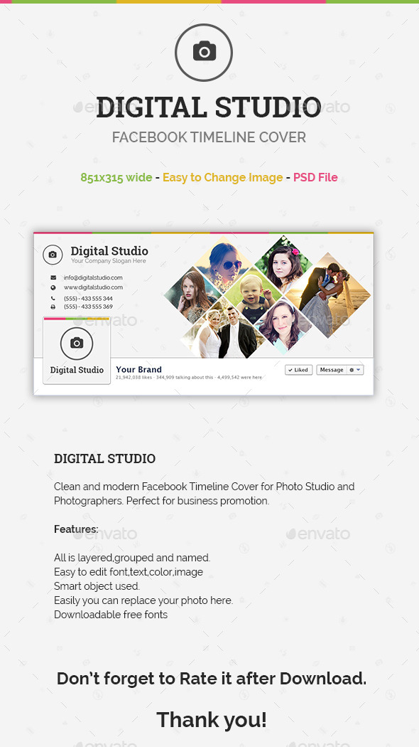 GraphicRiver Digital Studio Facebook Timeline Cover 10477706