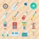 Set of Musical Stickers - GraphicRiver Item for Sale