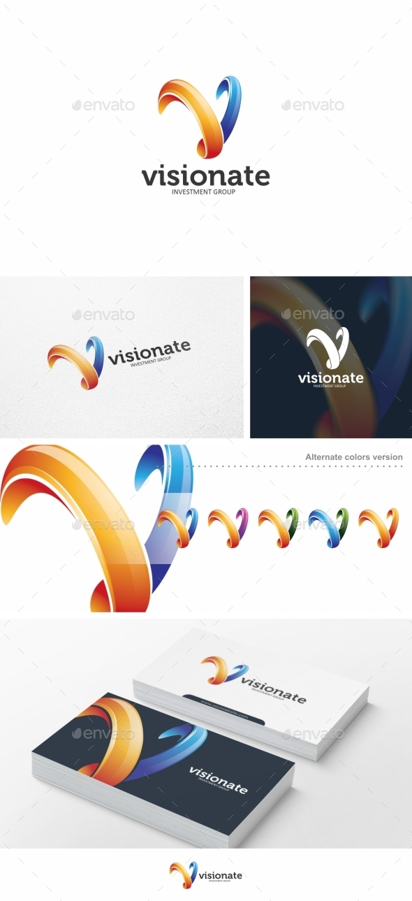 GraphicRiver Abstract V Letter Vol 02 Logo Template 10477834