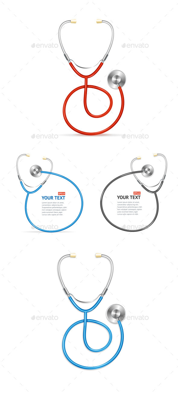 GraphicRiver Vector Stethoscope Set 10477950