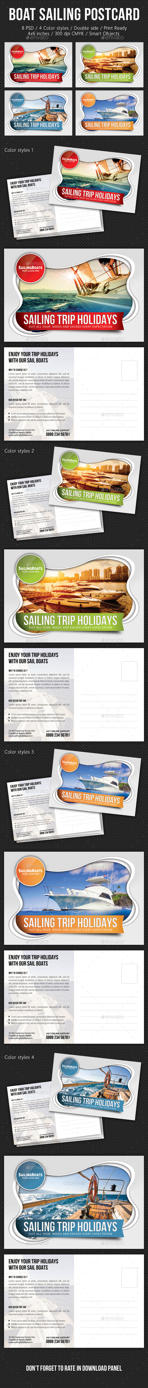 GraphicRiver Boat Sailing Postcard Template V03 10478108