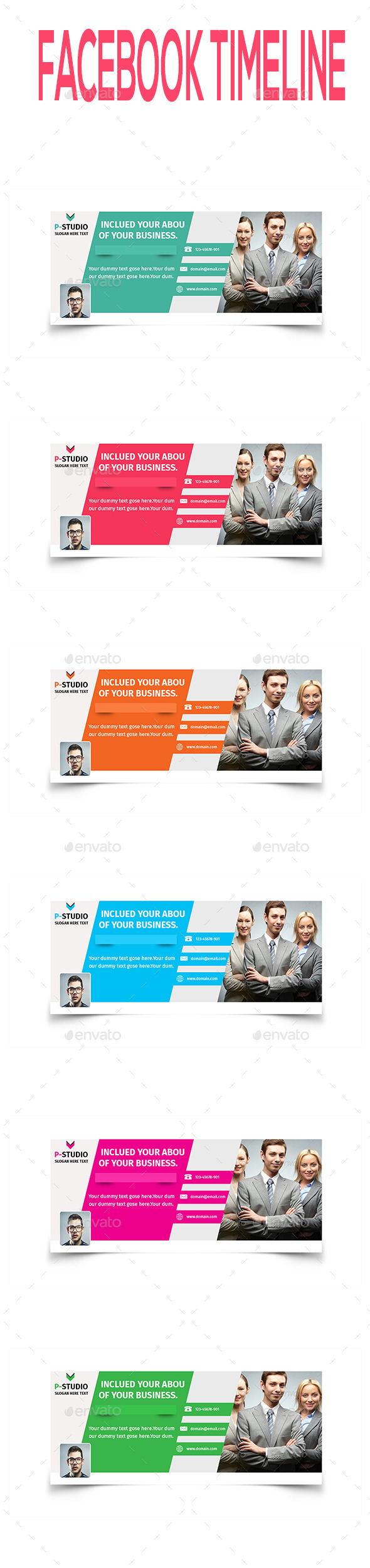 GraphicRiver Multipurpose Facebook Timeline V1 10431324