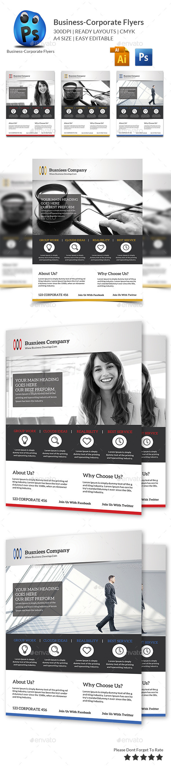 GraphicRiver Corporate Business Flyer Template 10478215