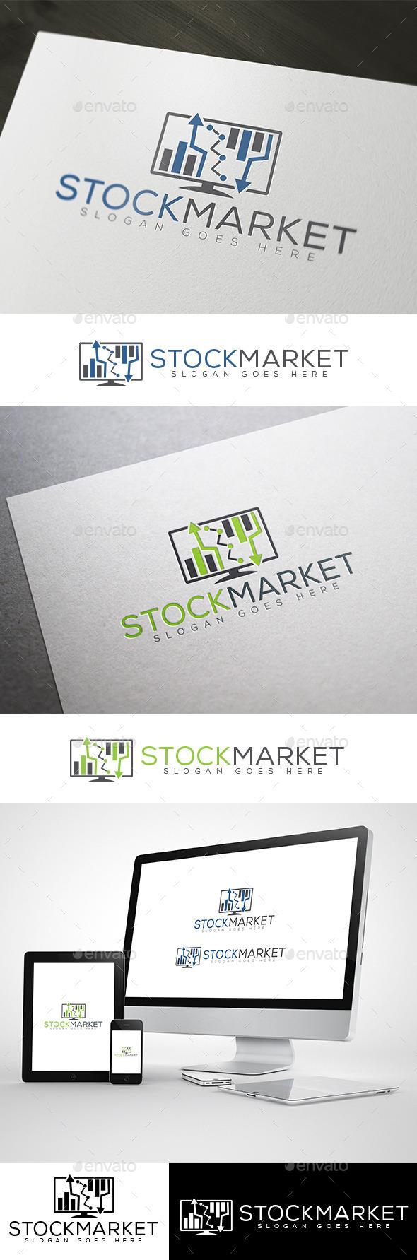 GraphicRiver Stock Market & Online Finance Logo 10478300