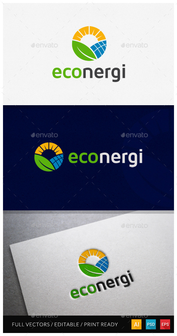 GraphicRiver Econergi Logo Template 10478723