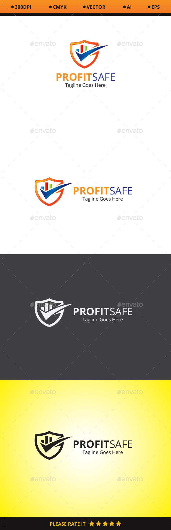 GraphicRiver Profit Safe Logo 10478751