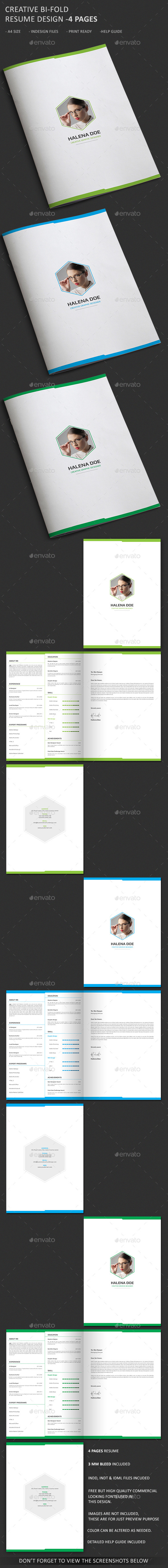 GraphicRiver Clean and Creative Resume Template- 4 Pages 10478776