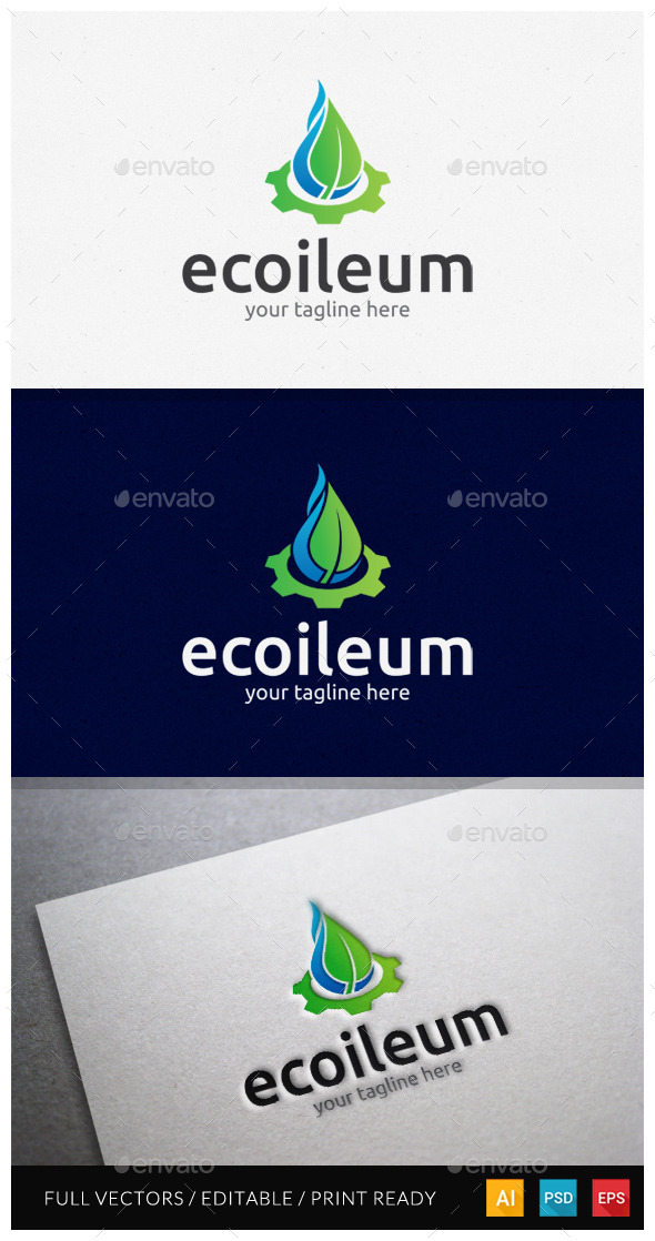GraphicRiver Ecoileum Logo Template 10478787