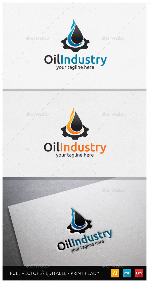 GraphicRiver Oil Industry Logo Template 10478841