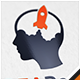 Idea Rocket Brain Logo - GraphicRiver Item for Sale