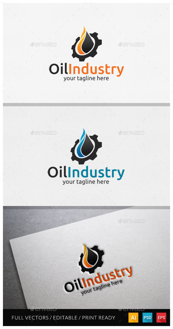 GraphicRiver Oil Industri Logo Template 10478900