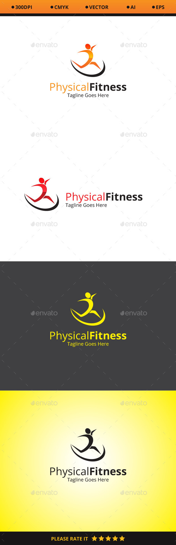 GraphicRiver Physical Fitness Logo 10478925