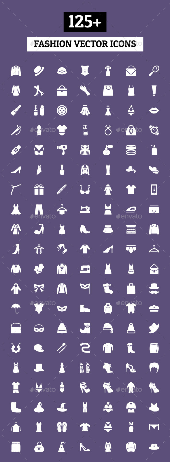 GraphicRiver 125& Fashion Vector Icons 10479583