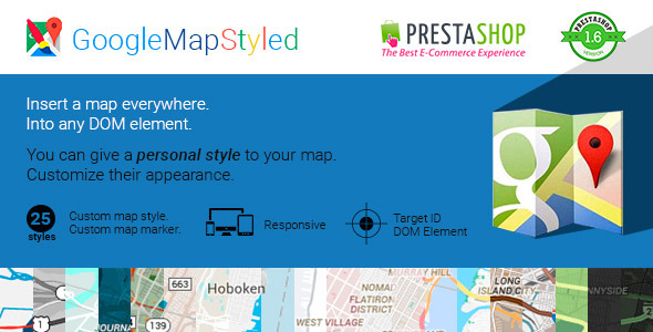CodeCanyon Google Map Styled for Prestashop 10362391
