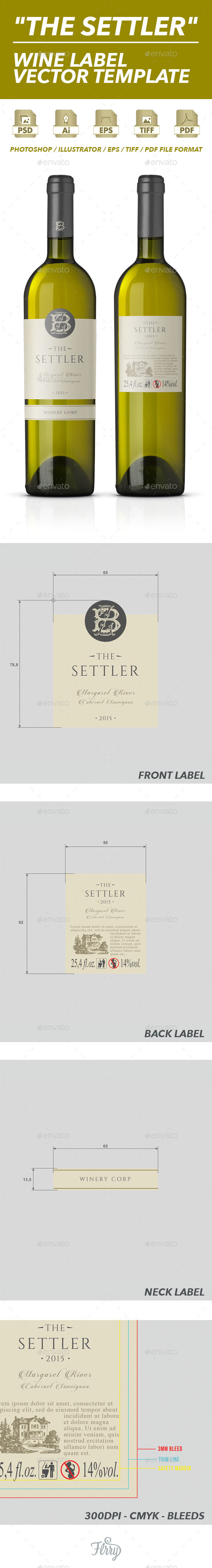 GraphicRiver Wine Label Vector Template 10480301