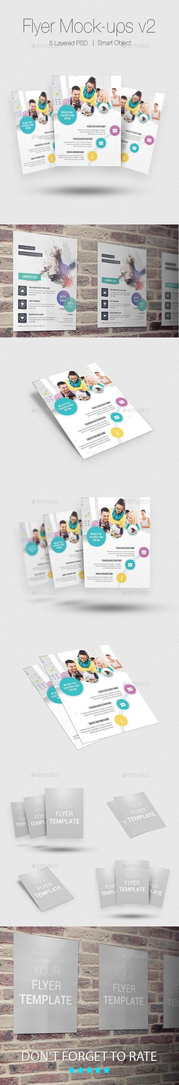 GraphicRiver Flyer Poster Mock-ups v2 10480444
