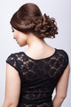 Young beautiful brunette woman in black dress - PhotoDune Item for Sale