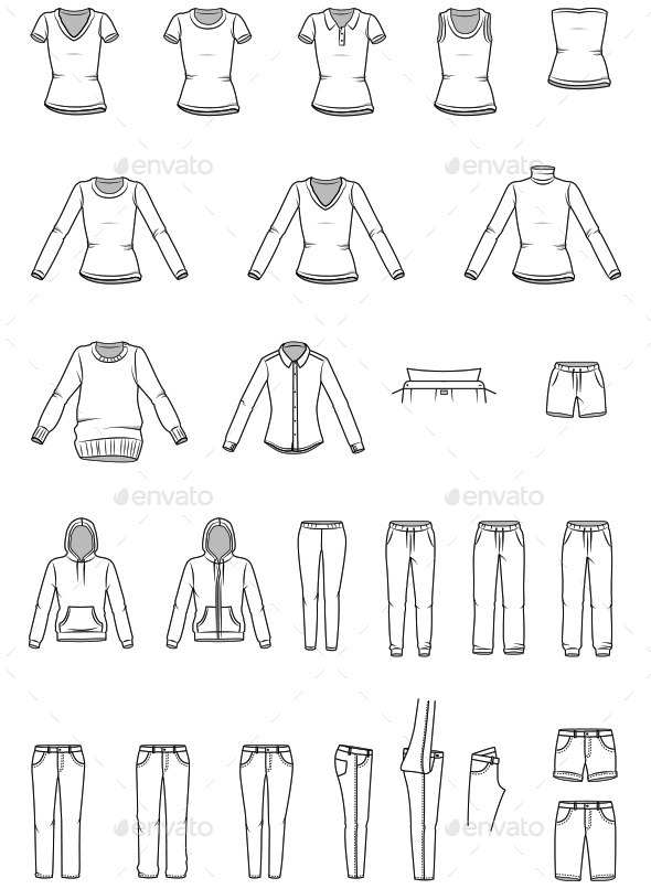 GraphicRiver Women s Clothes and Garment Illustrations 10481153