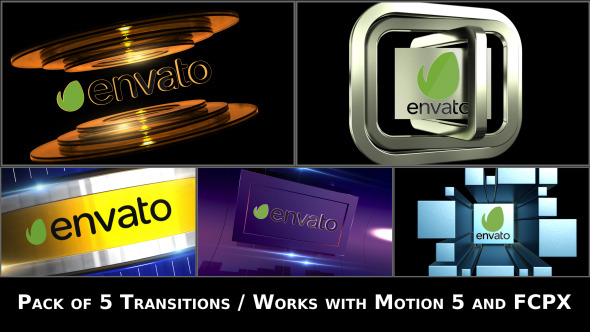 Broadcast Logo Transition Pack V2 Apple Motion