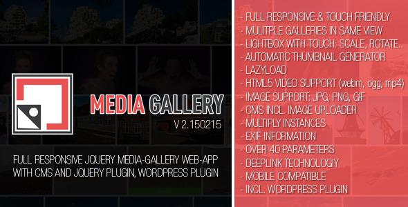 CodeCanyon MediaGallery WebApp incl jQuery Wordpress-Plugin 10481205