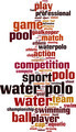 Water Polo Word Cloud Concept - PhotoDune Item for Sale