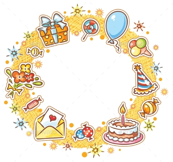 GraphicRiver Round Birthday Frame 10481248