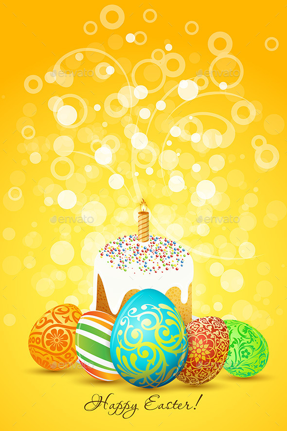GraphicRiver Easter Eggs with Ornament Decoration 10481305