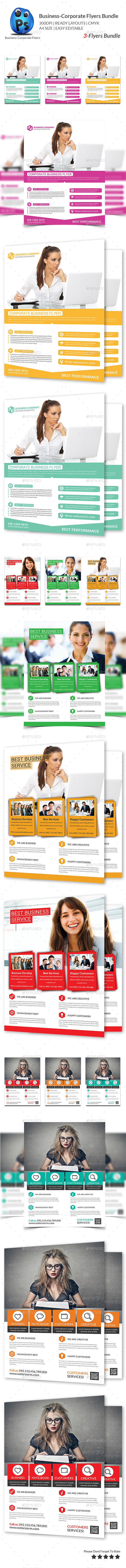 GraphicRiver Corporate Business 3 Flyer Bundle 10481336