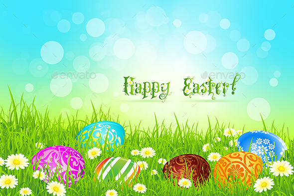 GraphicRiver Easter Background 10481337