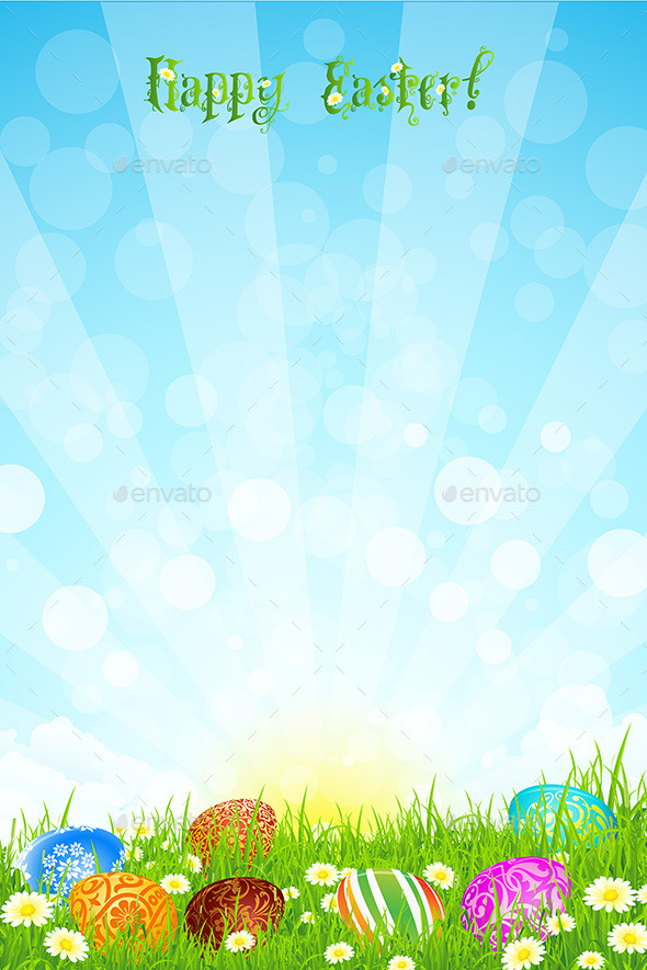 GraphicRiver Easter Background 10481342