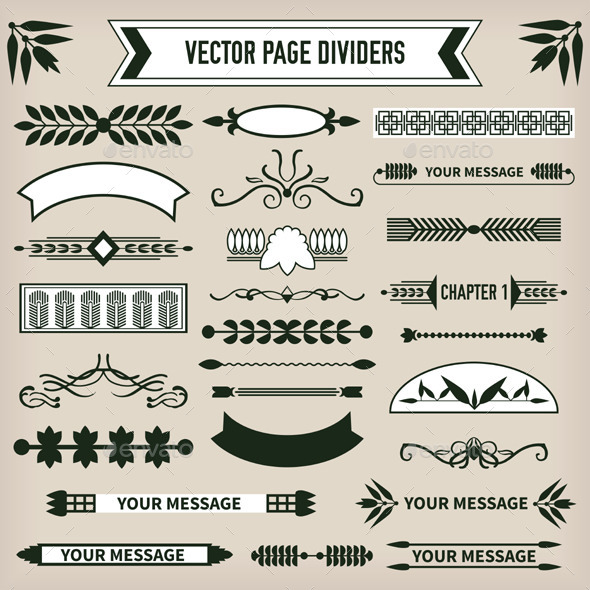 GraphicRiver Decorative Page Dividers 10474214