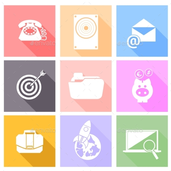 GraphicRiver Set of Icons for Business 10481417