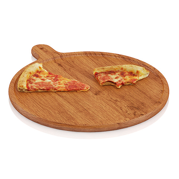 3DOcean Pizza slices on wooden board 10481449