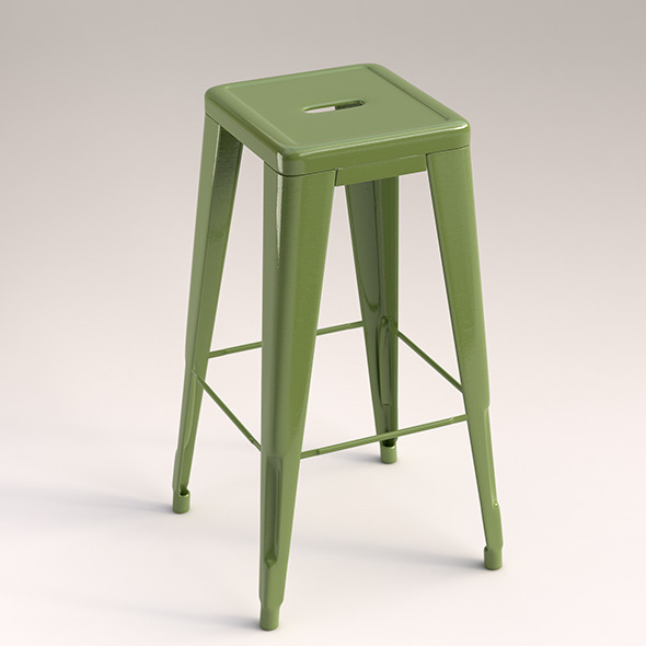 3DOcean Metal stool 10481467