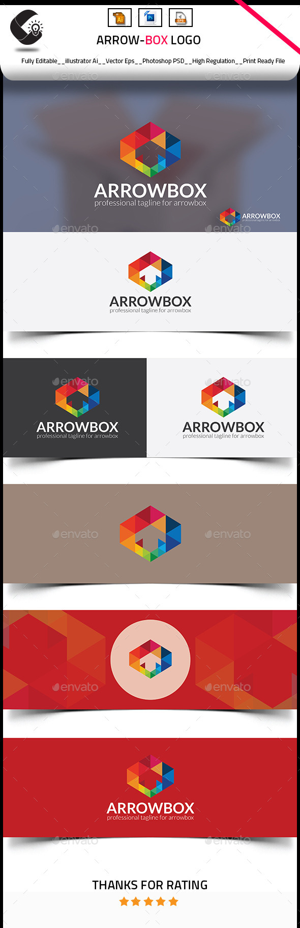 GraphicRiver Arrow Box Logo 10481476