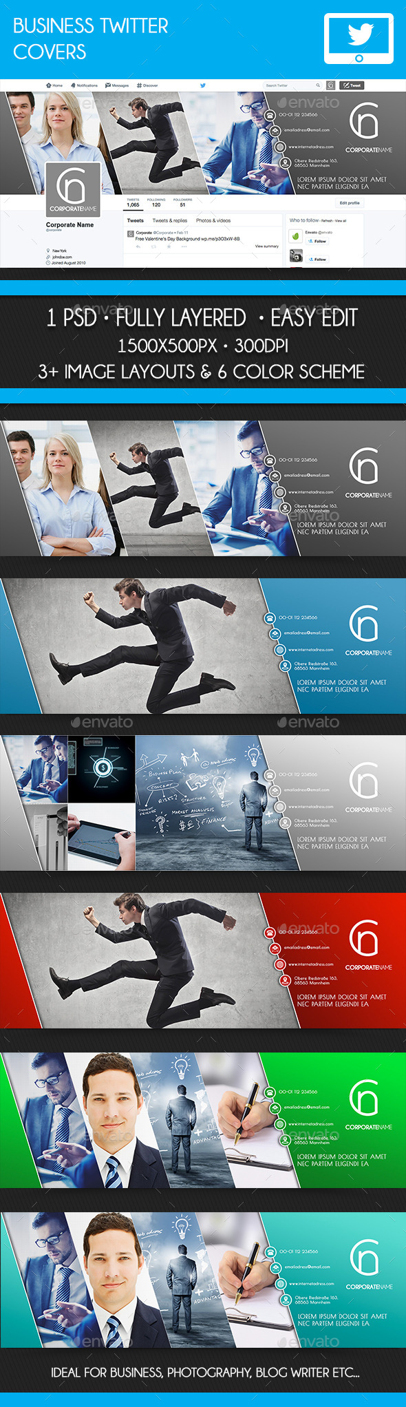 GraphicRiver Twitter Business Covers 10481546