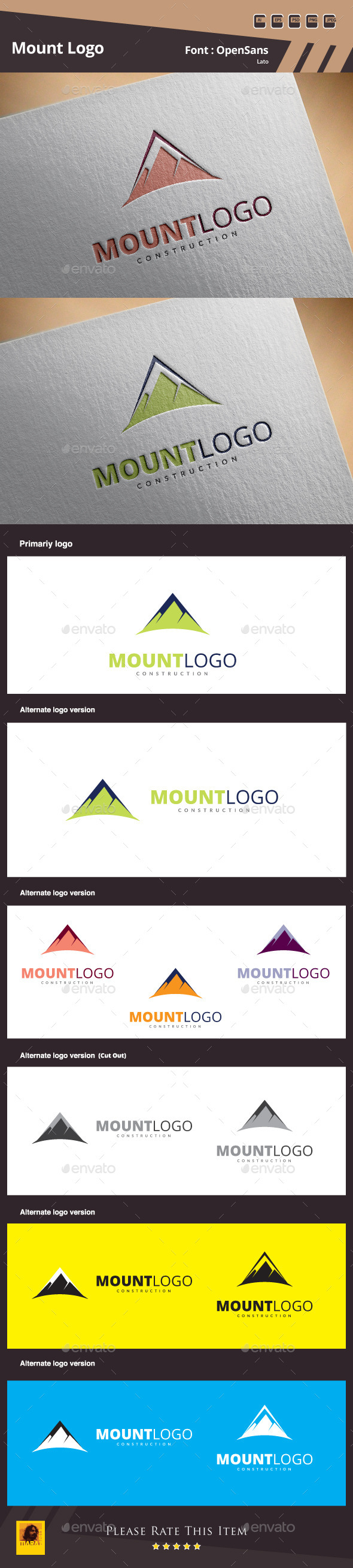 GraphicRiver Mount Logo Template 10481660