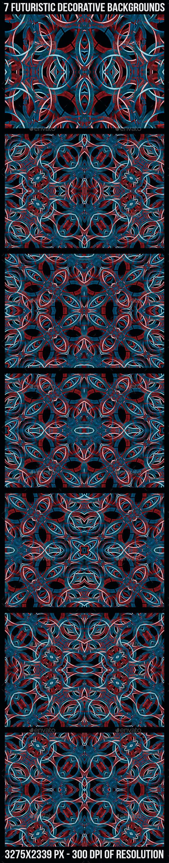 GraphicRiver 7 Futuristic Decorative Patterns 10481781