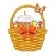 Basket with Easter Eggs and Cake   - GraphicRiver Item for Sale