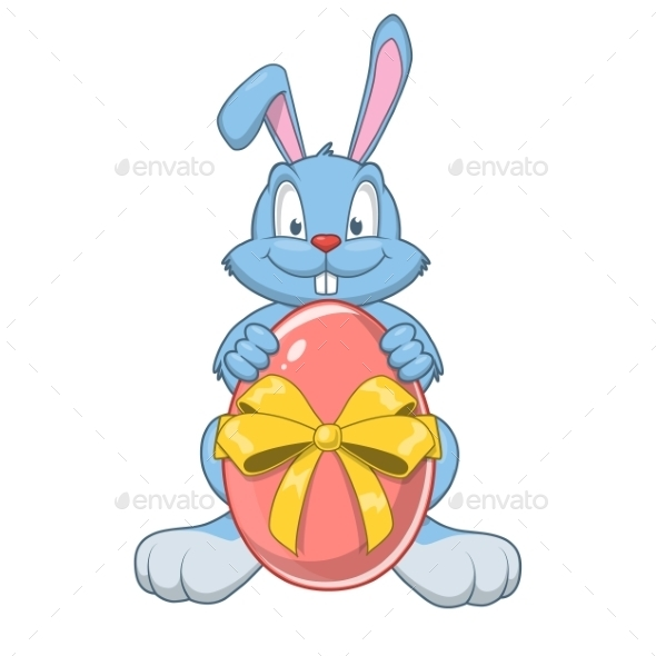 GraphicRiver Easter Rabbit with Eggs 10481875