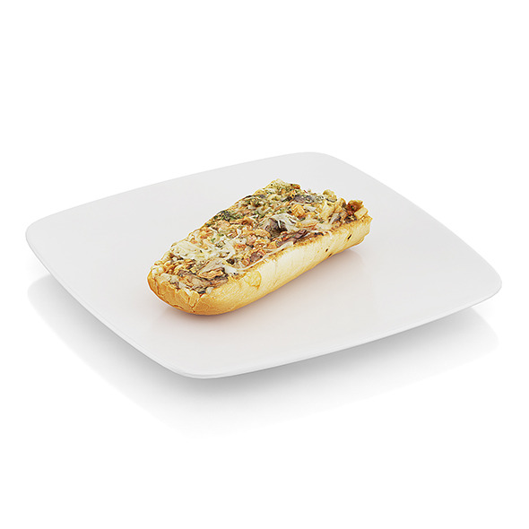 3DOcean Baguette baked with mushrooms 10481902