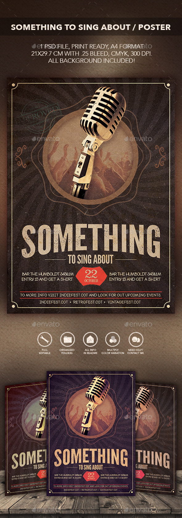 GraphicRiver Something to Sing About Flyer Poster 10481953