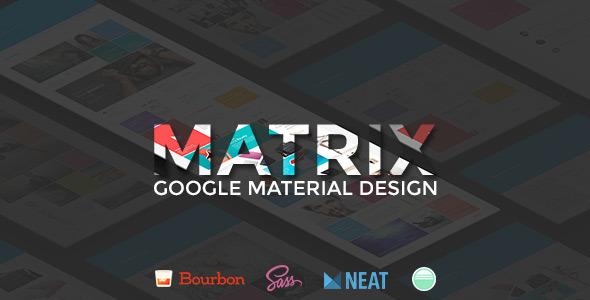 Matrix - Multipurpose Page Template