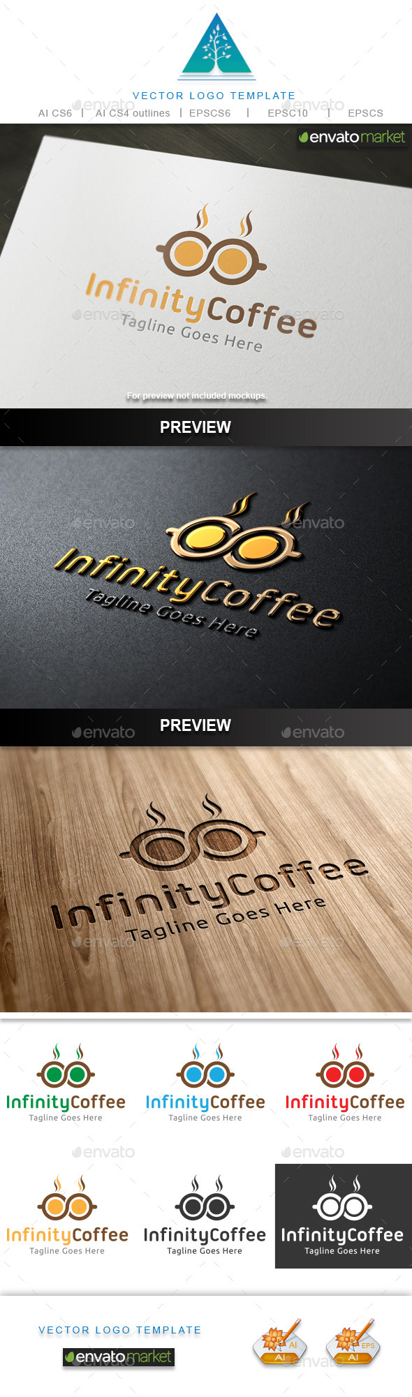 GraphicRiver Infinity Coffee Logo 10482057