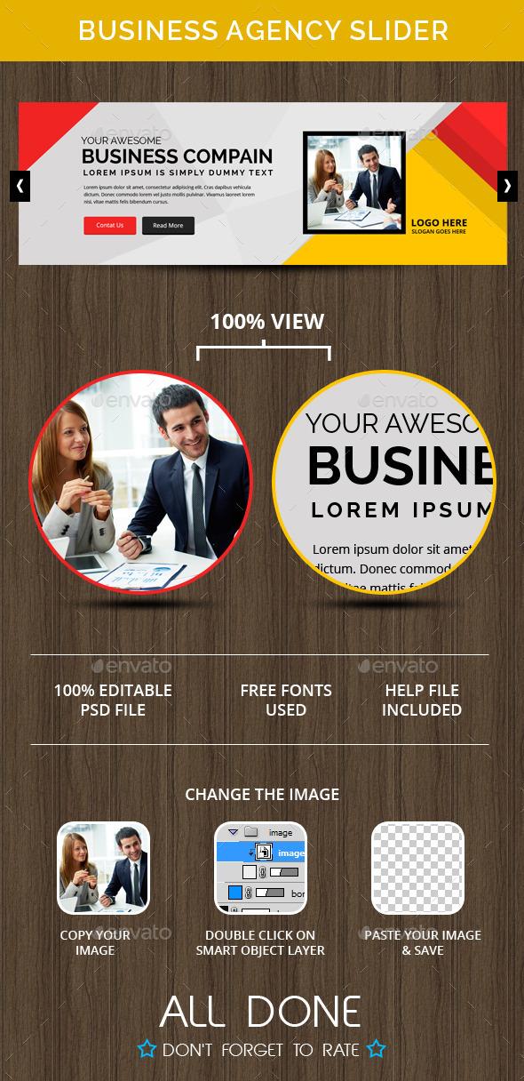 GraphicRiver Business Agency Slider 10482075