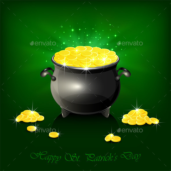 GraphicRiver Cauldron with Golden Coins 10482167
