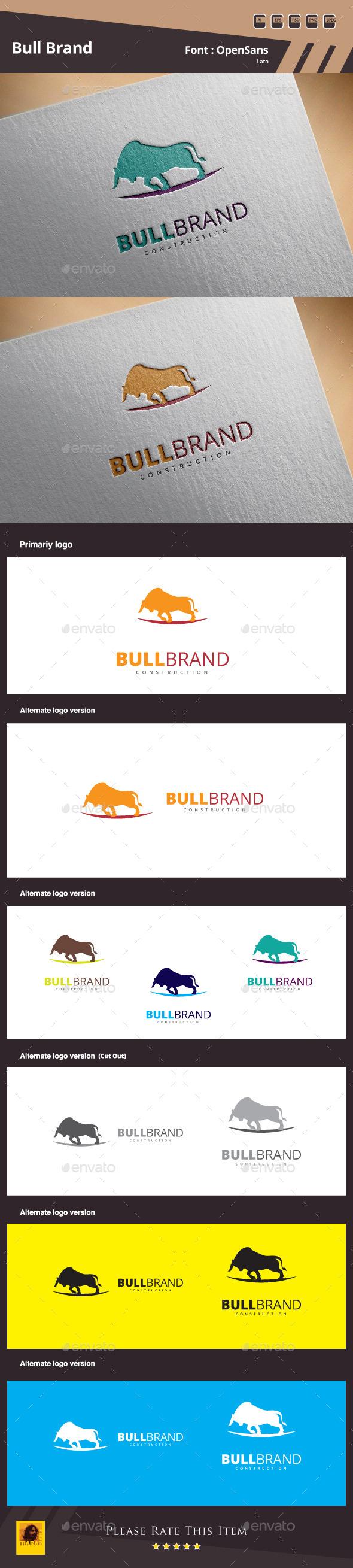 GraphicRiver Bull Brand Logo Template 10482382