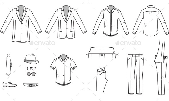 GraphicRiver Men s Clothes and Garments 10482451