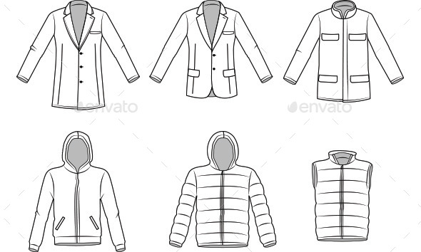 GraphicRiver Men s Outerwear Clothes 10482613